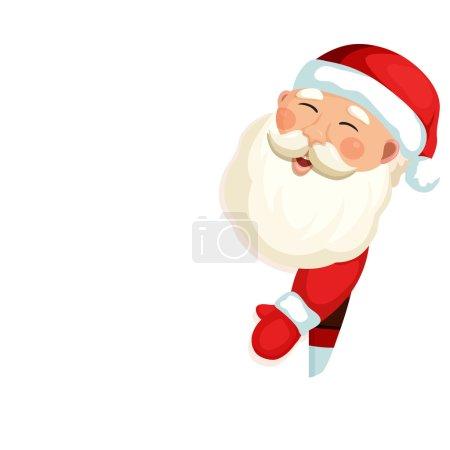 圣诞老人举着空白牌子 2