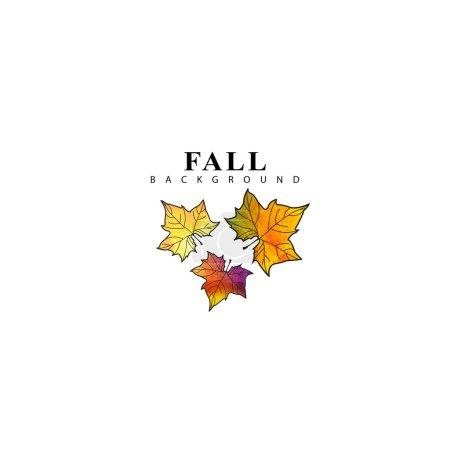 水彩秋天的树叶