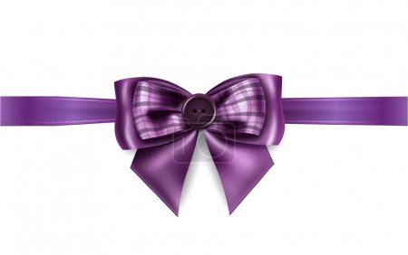 紫色的丝带,用漂亮的蝴蝶结