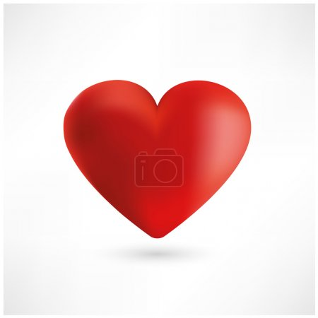 Red heart for Happy Valentines day