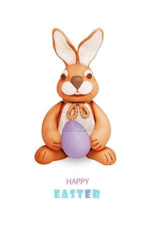 巧克力橡皮泥兔子蛋