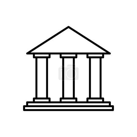 银行大楼钱金融图标.矢量图形