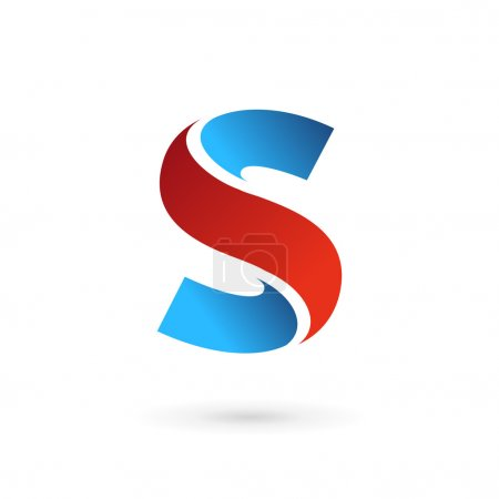 字母s 标志图标设计模板元素