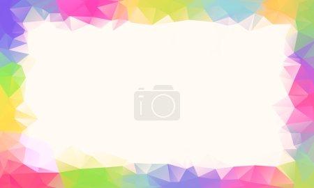 七彩的虹多边形背景或矢量帧