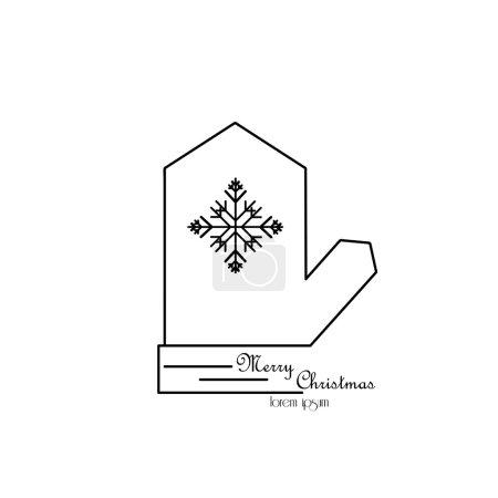 圣诞新年假期线图标设置圆形形状.矢量图的装饰.寒假项目