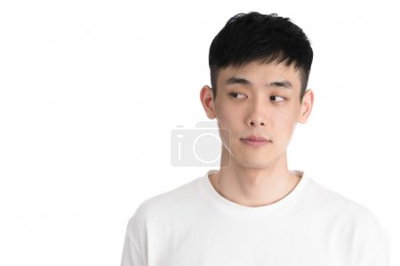 Handsome young asia man - isolated over a white background