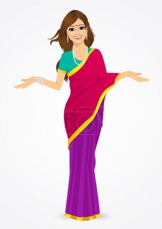 印度女人呈现出一些东西