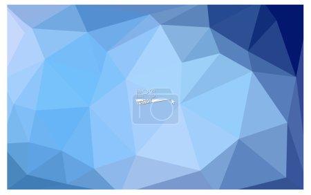 深蓝色几何弄皱了三角低聚折纸样式梯度图图形背景.